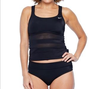 Nike women's black 2pc Tankini Swimsuit